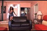 Ebony Swallows a Load