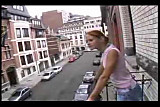 Sexy young girl meets her neighbour