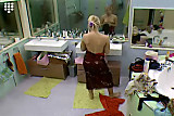 Big Brother NL Hot Blonde Teen Girl shows boobs dressing up