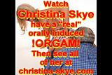 Christina Skye's orgasm