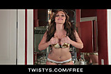 Twistys - HOT & horny redhead Destiny Dixon fingers herself