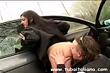 Italian Amateur Blowjob Car Pompino