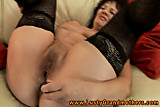 Amateur GILF in stockings hairy clit pounded