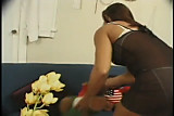 CUTE EBONY MIDGET IN NASTY THREESOME...usb