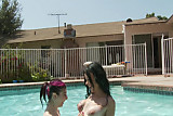 Angel Joanna gets pussy eaten by the pool