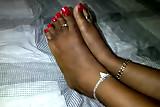 ebony red long toenail fj