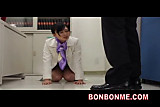 Mosaic; jap bank office lady gives boss great blowjob