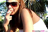 Amateur Chick Gives Blowjob In The Park