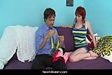 Big tits redhead babe Zoe Nixon hardcore sex