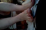 Red Toes Footjob