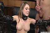 Amber Ashlee Enjoys Taking On Four Huge Cocks