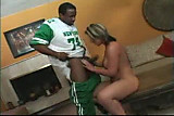 White girl with big tis and round ass get fucked by Black dude