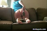 Dora spanking her own Ass with a Brush