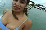 Juicy assed latina on boat