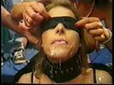 Bukkake blindfold girl facialed again and again