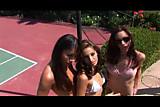 3 teens lesbians play