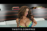 Twistys - HOT model Emily Addison loves playing with herself