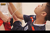 Piss; Two Thirsty Varsity Students Wet Blowjob Play
