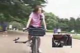 Japanese Schoolgirl Masturbates on a Modified Bicycle