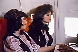 Air stewardess on layover
