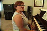 Chubby Mature Plays Piano...F70
