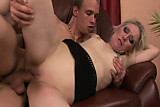 Old blonde granny pussyfucked deeply