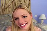 Happy blonde oral