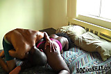 SEXY BIG ASS EBONY RIDES HIS BF'S DICK !!