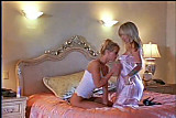 Blondes meeting in the  bed...By Angelo Luna