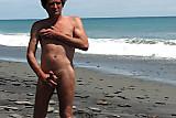 wanking on a beach