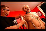 Tied up girl satisfies her master