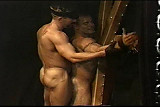 ...  stud on St Andrews cross flogged by ...