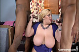 Sexy Blonde Amazon Takes on 2 BBCS