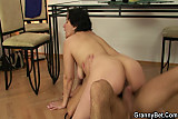 He bangs her old pussy