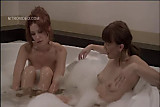 Heather Vandeven with friends in the jacuzzi