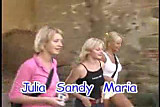 Julie De Brava with Nikki Sun and Sandy Orgy