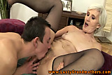 Amateur GILF granny pussy licked and tasted