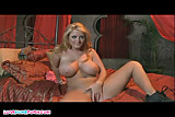 Lusty blonde solo model spreading wide