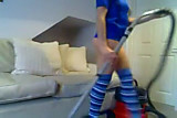 Hot girl masturbate with vacuum cleaner