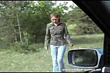 Redhead Blowjob In Car