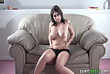 ...  Tattoo big tits brunette Roxsy strip tease solo ...