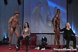 Hot male stripper pleasing a sexy girl