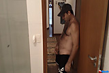 Male shows off his ass and his cock