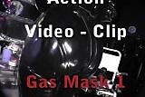 Gasmask electro latex femdom