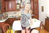 Blonde Russian Teen does Anal in kitchen