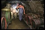 Olga East in wine cellar