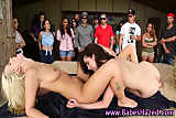 Teen college amateurs eat pussy