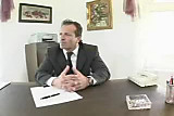 Secretary in business suit