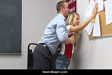 Teacher fucks smalltits blonde teen