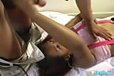 Cute thai in pink suspenders cock teasing